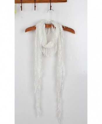 UNbox Womens Lightweight Cotton Tassel in Fashion Scarves