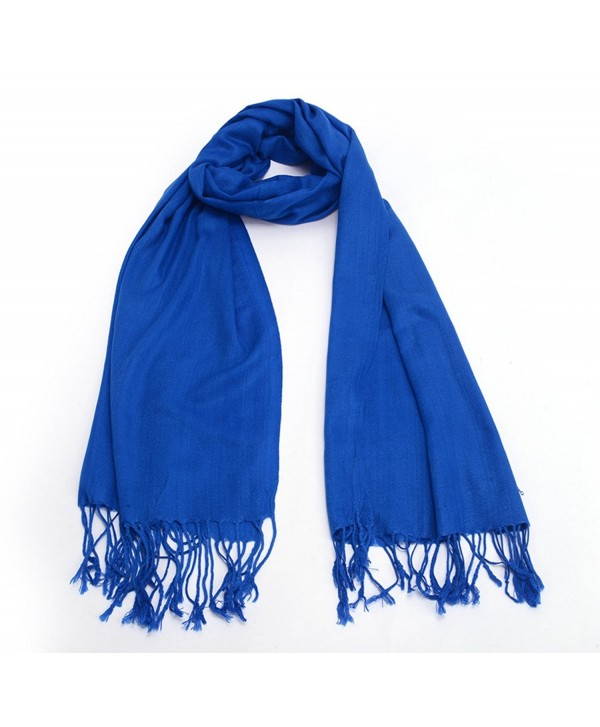 REINDEER Thick Solid Color Pashmina Shawl Scarf US Seller - Royal Blue - C312856VY1L