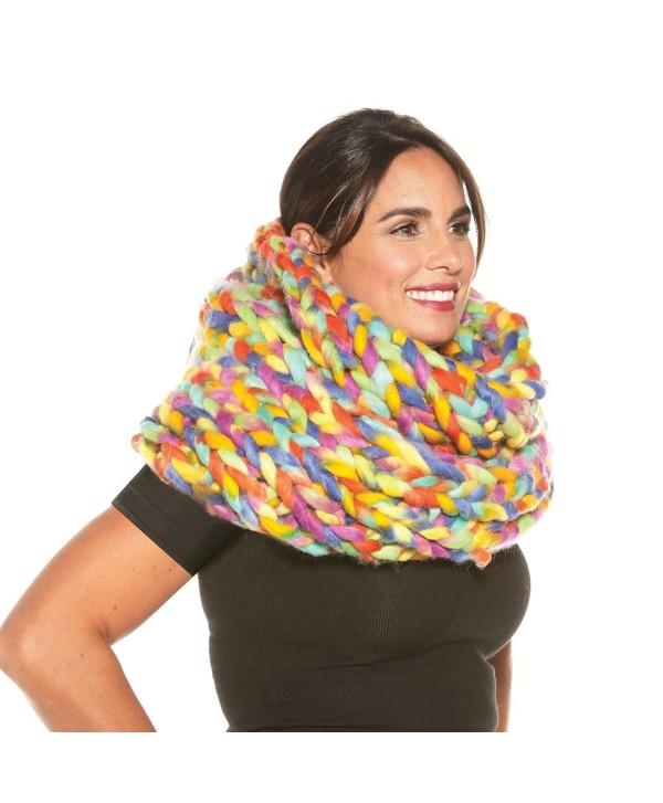 Women's Oversized Braided Infinity Scarf - CG188I67MIN