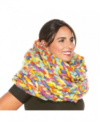 Womens Oversized Braided Infinity Scarf