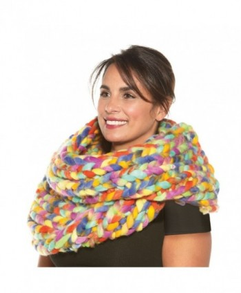 Womens Oversized Braided Infinity Scarf in Cold Weather Scarves & Wraps
