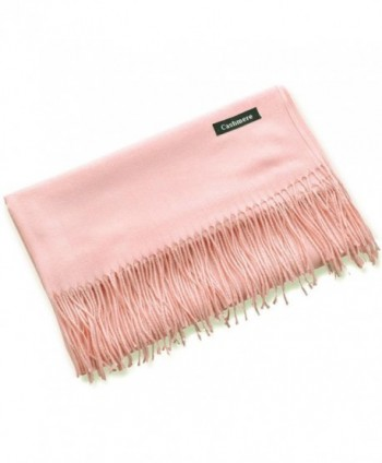 New Imitation Cashmere Thicker Women's Fashion Long Shawl Long Winter Warm Scarf - Light Pink - CJ186UUA324