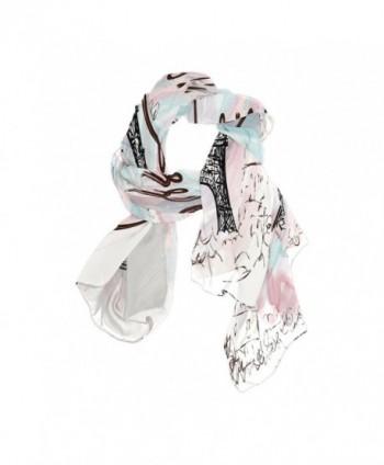 Sunlome Women's Scarves Paris Eiffel Tower Shawl Wraps Silk Scarf For Women - CZ184X4Z79R