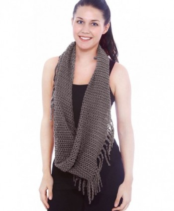 Unisex Infinity Circle Scarf Cable