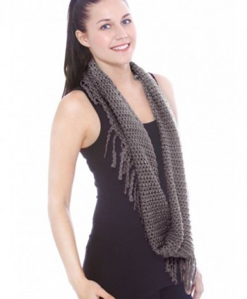 Unisex Infinity Circle Scarf Cable in Fashion Scarves