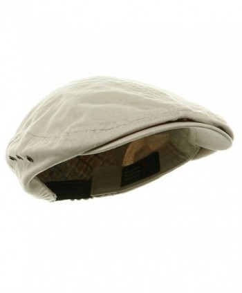 bc509c693a494 Available. Mega Cap MG Men s Plaid IVY Washed Canvas newsboy Cap Hat -  Stone - CB1130ZB4CH ...