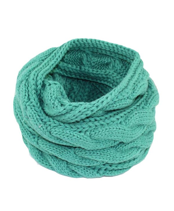 PUXIAN Unisex Chunky Oversized Knit Infinity Scarf Solid Colors Lightweight - Mint - CS12NS3A1WL