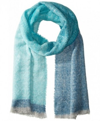 Tickled Pink Women's Colorblock Classic Scarf - Turquoise - CK184WEH78Y