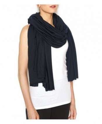 "XL Oversize Supersoft 100% Modal Wrap- 58x82"" Scarf / Shawl Le Noir (Black) - C2128OC8IV5"