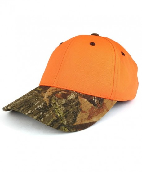 Trendy Apparel Shop Flourescent Bright Color Structured Hunting Safety Baseball Cap - Mossy Oak - CB18685ACGX