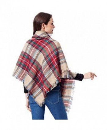 Moxeay Blanket Oversized Checked Pashmina
