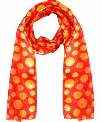 Polka-dot scarf - Chiffon scarf - Lightweight scarf - Red and Yellow - CC12JVD4YAT