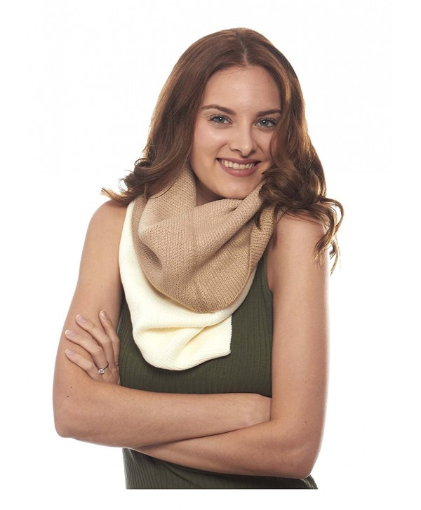 Ombre Extra Long Infinity Winter Scarf - Beige-ivory - C912NBWYQH1
