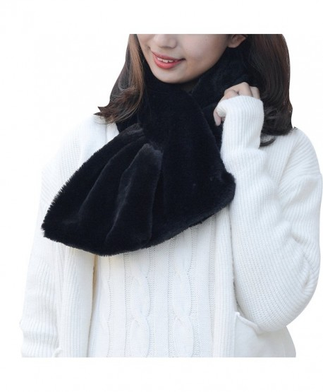 Warm Scarf Winter Soft Thick Neck Fashionable for woman by MissDill - Black - CG186R7EL0A