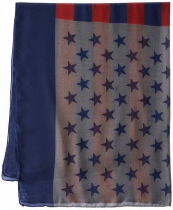Womens American Flag Oblong Scarf