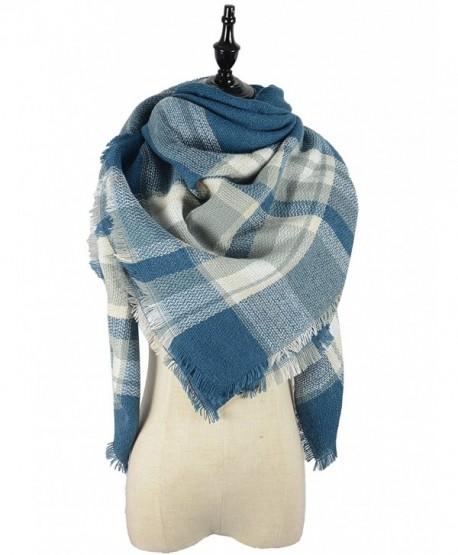 Durio Stylish Blanket Scarves Pashmina - Jean Blue Scarf - CF1868EAAAU