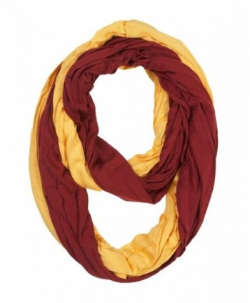 Women's Game Day Infinity Scarf - Maroon & Gold - CZ11UVL2CCT