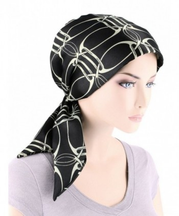 Chemo Fashion Turban Headwear Cancer - 05- Black Ivory Chain (Polyester) - C41859320KZ