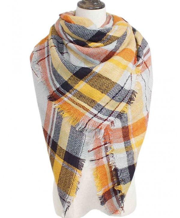 Waprincess Tartan Scarf for Women Winter Plaid Blanket Checked Scarves Wraps Shawl Gift - Plaids 19 - CQ12NSSCQ4N