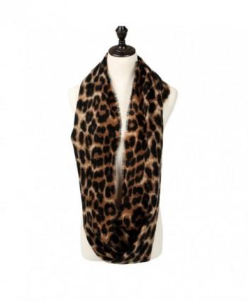 Womens Leopard Print Infinity Scarf