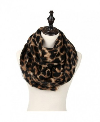 Womens Leopard Print Infinity Scarf in Fashion Scarves