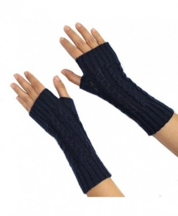FINGERLESS MITTENS GLOVES Alpaca Wool made in PERU - Blue - C1187EW33NW