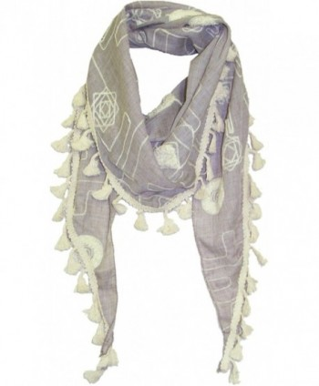 ZUZIFY Triangular All-Over Embroidered Scarf. AC0012 - Beige - C517YCZH86K