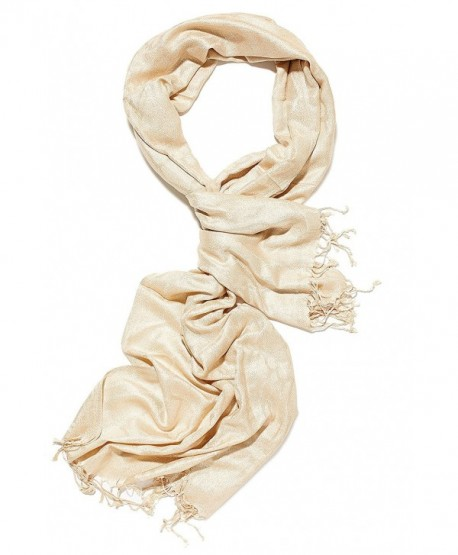 Ladies Cotton Scarf For Evening Dress Glittering Shawls Dressy Scarves For Women - honey gold - CA12N3XTMU4
