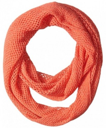 Steve Madden Women's Solid Mini-Fishnet Infinity Scarf - Coral - CI124PSURYX