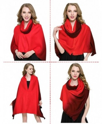 Winter Scarfs Dewewede Fashinable Blanket - Red - C712NYEWJOC