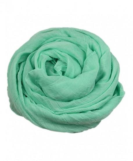 Soft Cotton and Linen Super Large Shawl Scarf Fashion Pashminas/Wrap 180*120cm - Light Blue - C311QWZDKQ5