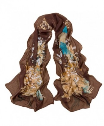 Reversible Voile Shawl 63&lsquo'20&lsquo' Women Scarf for Clothes Decorating - Coffee2 - CC12O0NHC0H
