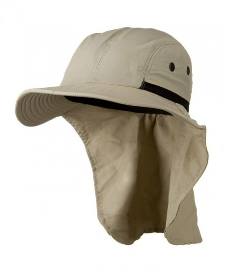 Mesh Sun Protection Flap Hat - Sand W14S42F - CH110A3WA91