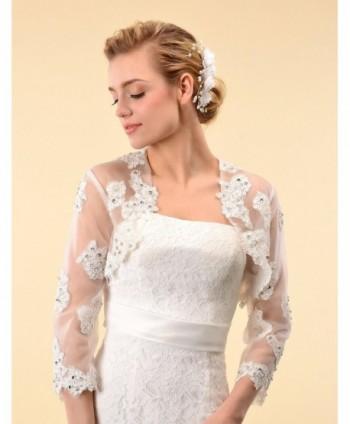 Topwedding Sleeves Wedding Bridal Bolero in Wraps & Pashminas