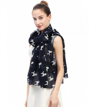 Lina Lily Poodle Womens Lightweight in Fashion Scarves