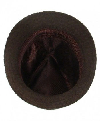 Woven Stingy Fedora Trilby Hat in Men's Fedoras
