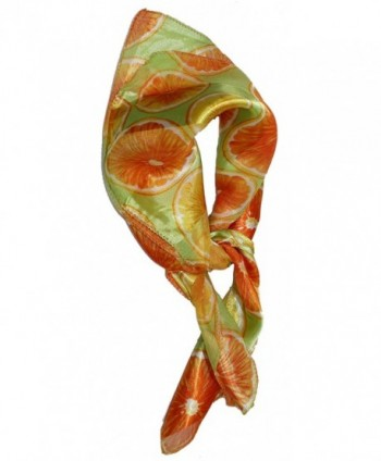 Ted and Jack - Summertime Fresh Fruit Silk Feel Neckerchief Scarf - Orange - CF12CNQPG9P