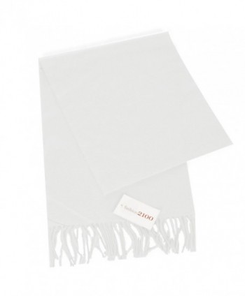 fashion2100 Super Soft Cashmere Feel Scarf - White - CQ12OBN8NPL