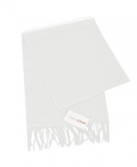 fashion2100 Super Soft Cashmere Feel Scarf - White - CQ12OBN8NPL