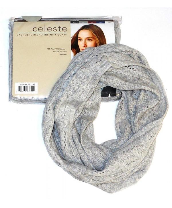 Celeste Cashmere Blend Infinity Scarf Colour:grey - CX11CZMPSH3