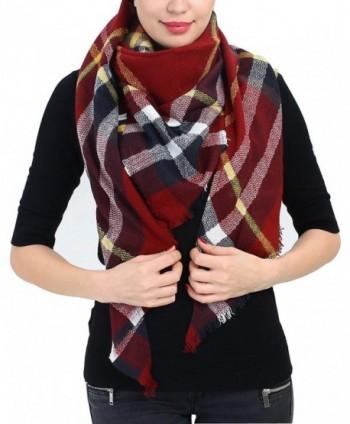 Blanket Scarf Christmas Plaid Shawl - Djst-blanket Scarf-r - CB185H33U3K