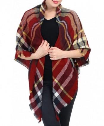 Blanket Scarf Christmas Plaid Shawl
