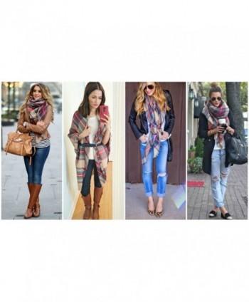 Blanket Scarf Christmas Plaid Shawl in Fashion Scarves