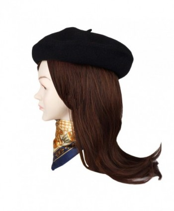 Jeicy Beret Solid French Brooch in Fashion Scarves