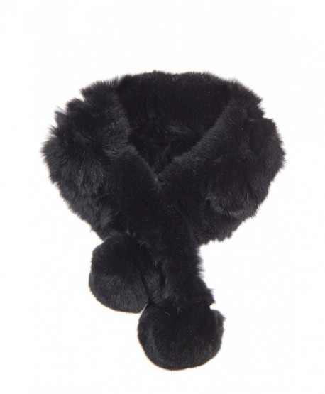 Alpina Rex Rabbit Fur Convertible Headband and Scarf - Black - CX111K473J3