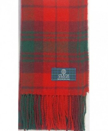 Lambswool Scottish Macnab Modern Tartan in Cold Weather Scarves & Wraps