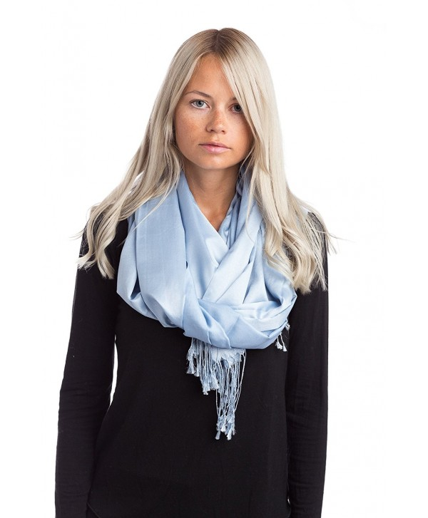 Abbino LM1338 Scarves Women - Made in Italy - 16 Colors - Womens Light Elegant - Sky Blue - CD12NTYCTIC
