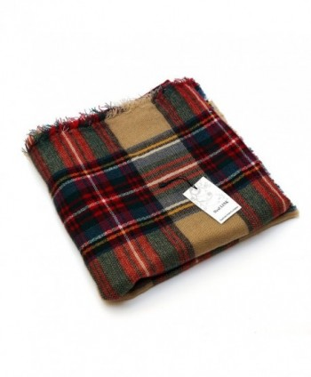 Womens Tartan Scarf Checked Pashmina