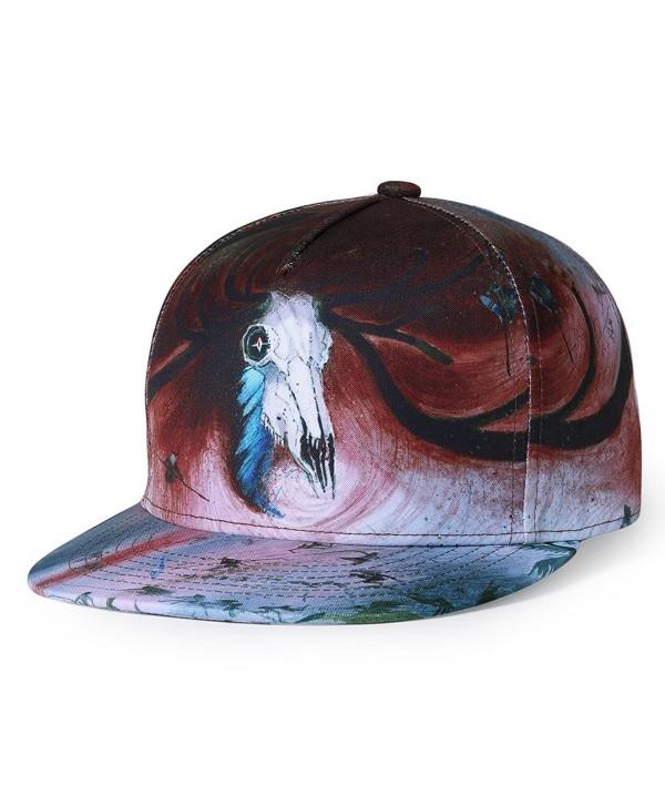 Puli Unisex Adjustable Snapback 3D Printed Hip Hop Flat Bill Baseball Cap Hats - Design_051 - CI180IA7UHL