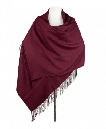 Cashmere Poncho Blanket Scarfs Fringe in Wraps & Pashminas
